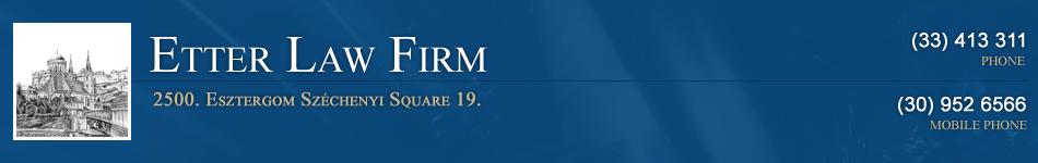 Etter Law Firm | Esztergom
